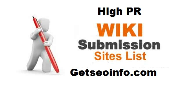 High-PR-Wiki-Submission-Sites