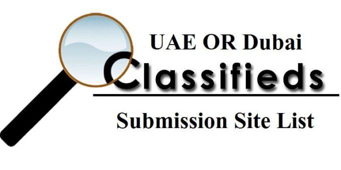 UAE OR Dubai Classified Submission Sites List